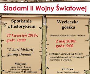 Brenna - wykład i wycieczka dotyczące wydarzeń z czasów II wojny światowej